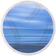 Beach Ocean Blur Round Beach Towel by Randy Steele