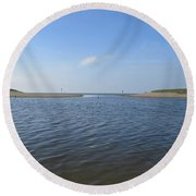 Beach Of Camperduin Round Beach Towel