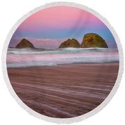 Round Beach Towel featuring the photograph Beach Of Dreams by Darren White