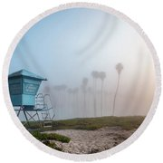 Round Beach Towel featuring the photograph Beach Office by Sean Foster