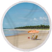Round Beach Towel featuring the photograph Beach Paradise by Lana Enderle