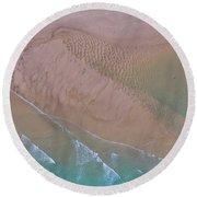 Beach Patterns At North Point On Moreton Island Round Beach Towel