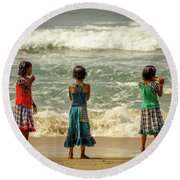 Beach Play Round Beach Towel