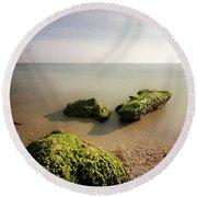Beach Round Beach Towel by RC Pics