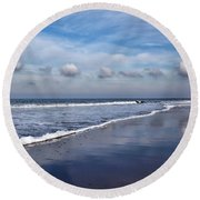 Beach Reflections Round Beach Towel