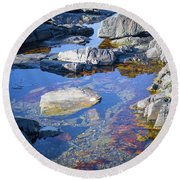 Beach Rocks Round Beach Towel