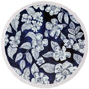 Beach Rose Pattern Round Beach Towel