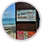 Beach Rules Round Beach Towel