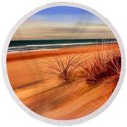 Beach Sand Dunes Round Beach Towel