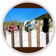 Beach Sandels  Round Beach Towel