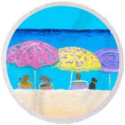 Beach Sands Perfect Tans Round Beach Towel