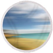 Beach Seascape Abstract Round Beach Towel by Gill Billington