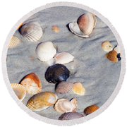 Beach Shells Round Beach Towel