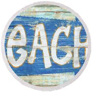 Beach Sign Round Beach Towel