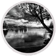 Round Beach Towel featuring the photograph Beach Silhouette by David Patterson