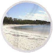 Beach Solomons Island Round Beach Towel