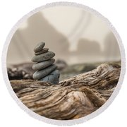Beach Stack Round Beach Towel