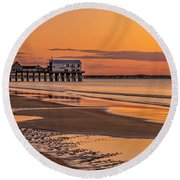Beach Sunrise Round Beach Towel