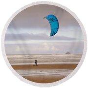 Beach Surfer Round Beach Towel by Wendy McKennon