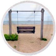 Beach Swing Round Beach Towel