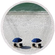 Beach Therapy 2 Round Beach Towel