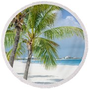 Beach Time In Turks And Caicos Round Beach Towel by Mike Ste Marie