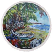 Beach Time Round Beach Towel