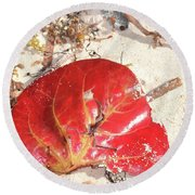 Beach Treasures 1 Round Beach Towel