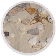 Beach Treasures 2 Round Beach Towel