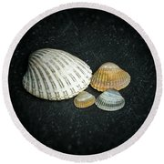 Beach Treasures  Round Beach Towel by Karen Stahlros