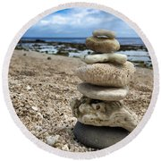 Round Beach Towel featuring the photograph Beach Zen by Brian Eberly