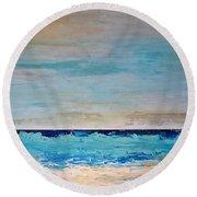 Beach1 Round Beach Towel by Diana Bursztein