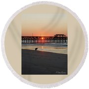 Beachcomber Round Beach Towel by Gordon Mooneyhan