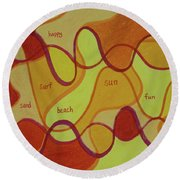 Beachday Two Round Beach Towel