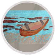 Beached At Washington Oaks Park Round Beach Towel