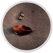 Beached Leaf Round Beach Towel