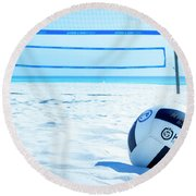 Volleyball On The Beach Round Beach Towel