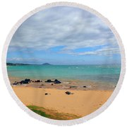 Round Beach Towel featuring the photograph Beaches Of Hawaii by Michael Rucker