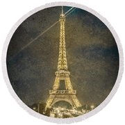 Paris, France - Beacon Round Beach Towel