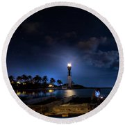 Beacons Of The Night Round Beach Towel