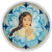 Flying Lamb Productions.        Beads Of Life Round Beach Towel
