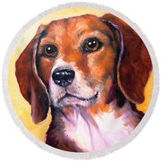 Beagle Billy Round Beach Towel