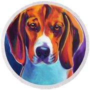 Beagle - Chester Round Beach Towel