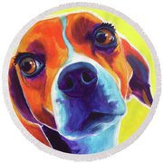 Beagle - Marcie Round Beach Towel
