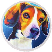 Beagle - Martin Round Beach Towel