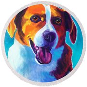 Beagle - Penny Round Beach Towel