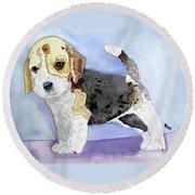 Beagle Pup Round Beach Towel
