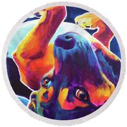 Beagle - Roxy Round Beach Towel