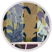 Round Beach Towel featuring the photograph Beanstalk by Kenneth Campbell