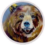 Bear Exposed Round Beach Towel